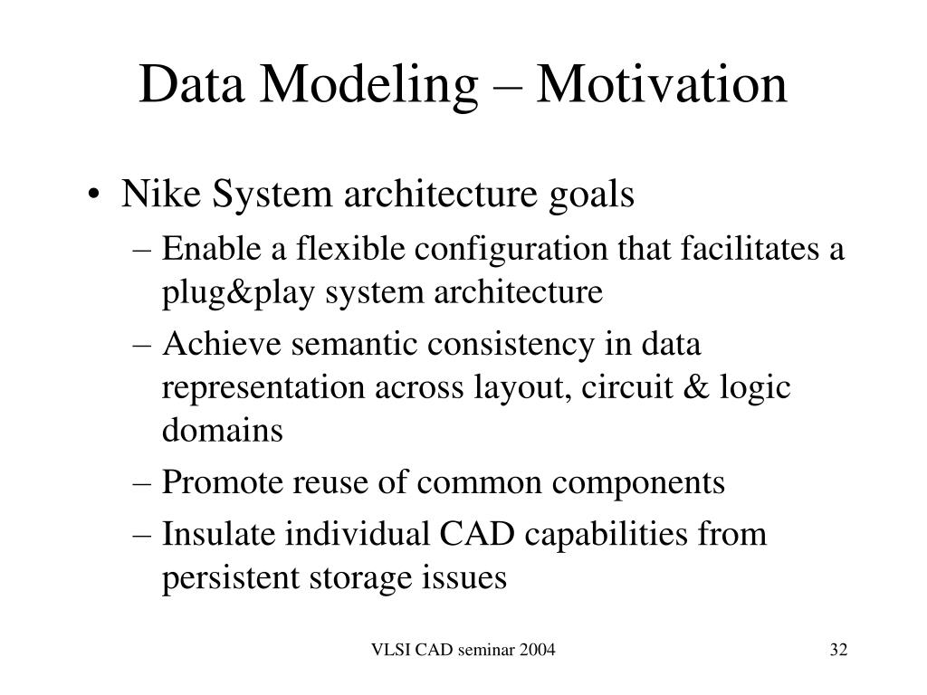 Data Modeling – Motivation