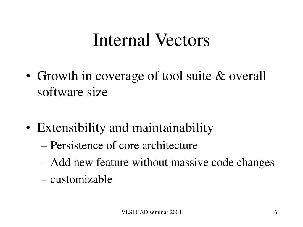 Internal Vectors