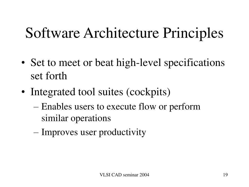 Software Architecture Principles