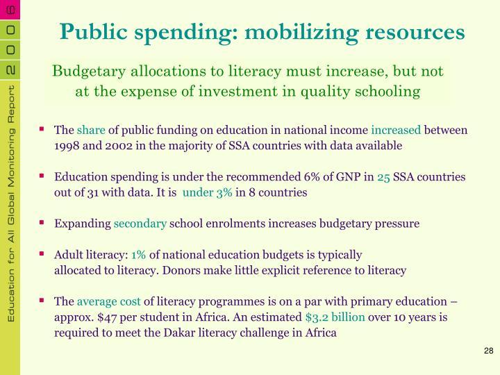 Public spending: mobilizing resources