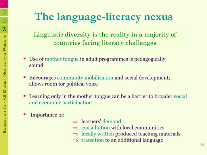 The language-literacy nexus