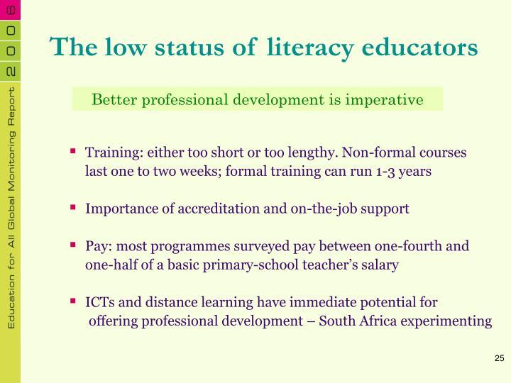 The low status of literacy educators