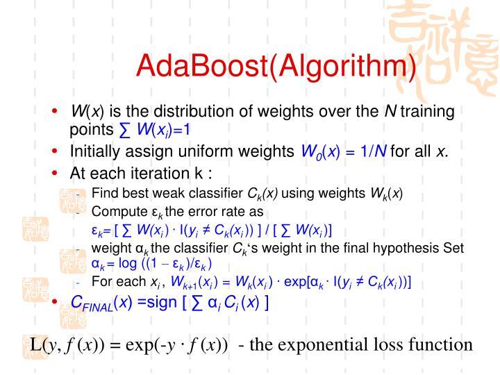 AdaBoost(Algorithm)