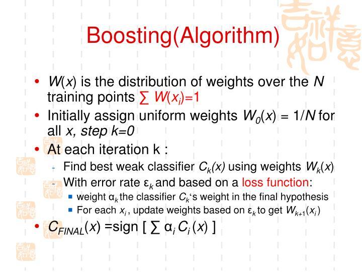 Boosting(Algorithm)
