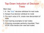 top down induction of decision trees