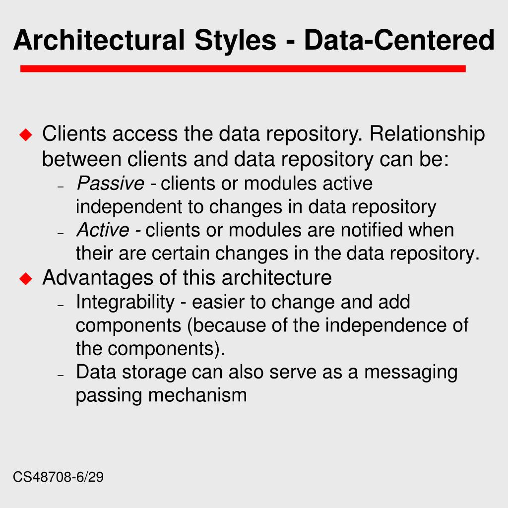 Architectural Styles - Data-Centered