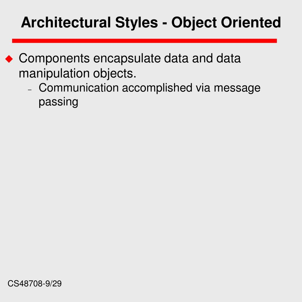 Architectural Styles - Object Oriented