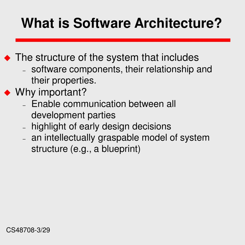 What is Software Architecture?