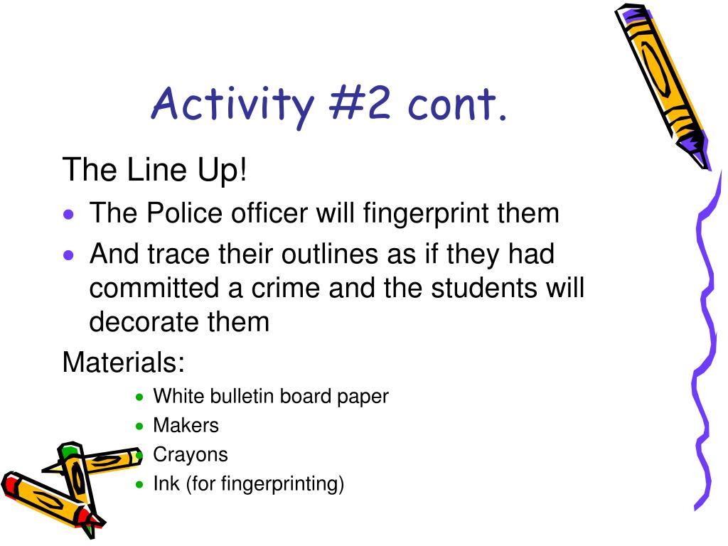 Activity #2 cont.