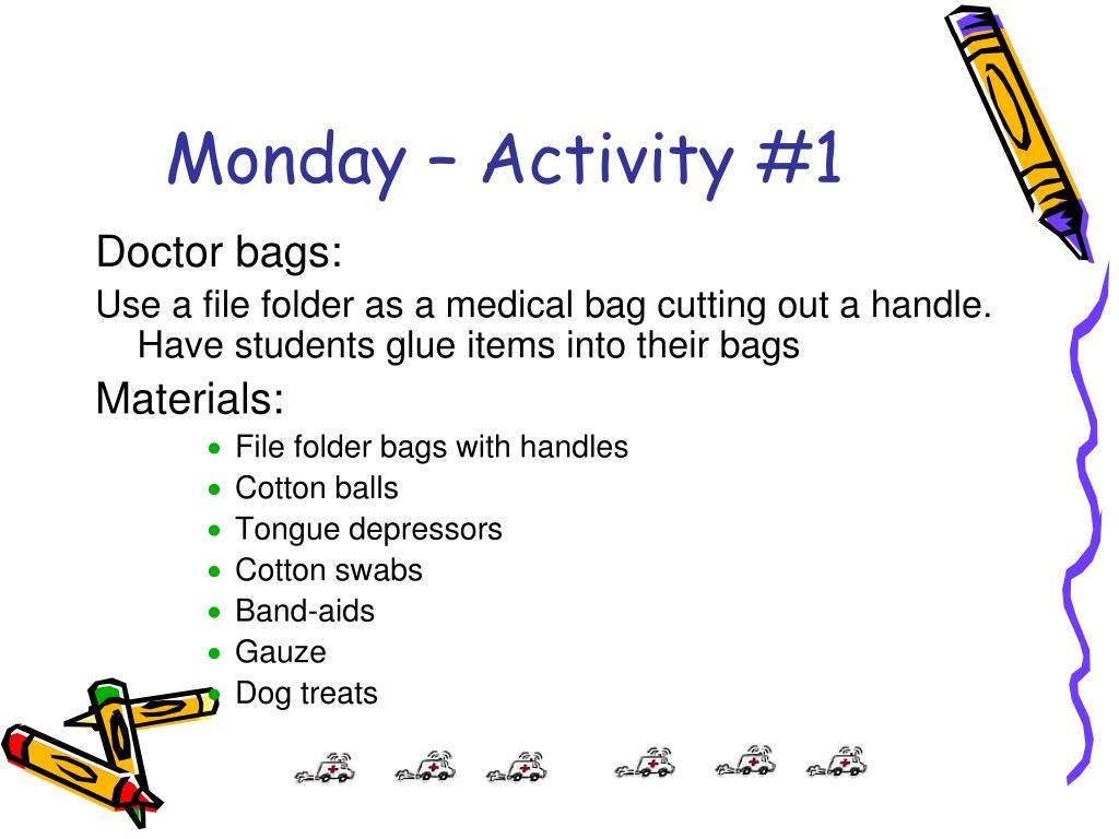 Monday – Activity #1