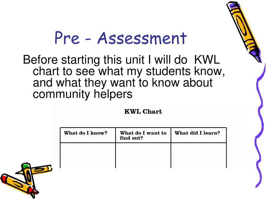 Pre - Assessment