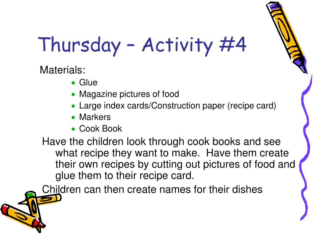 Thursday – Activity #4