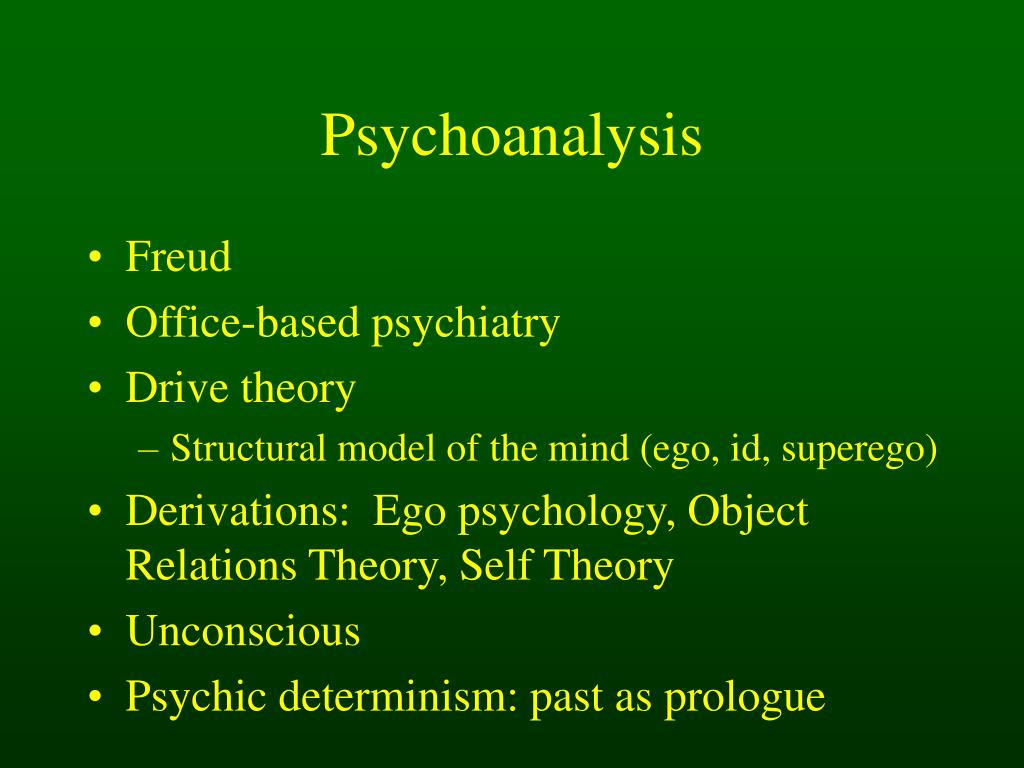 psychoanalytical theory determinism And realistic theory of human motivation  efforts to tie psychoanalytic theory to  a neurobiological  conscious mental processes, for psychic determinism.