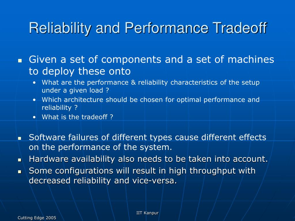 Reliability and Performance Tradeoff