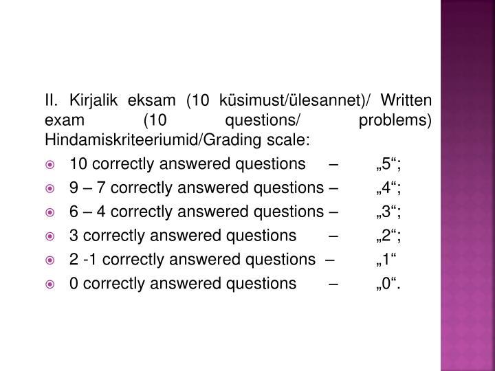 Kirjalik eksam (
