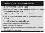 10 patient safety tips for hospitals1