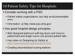 10 patient safety tips for hospitals3