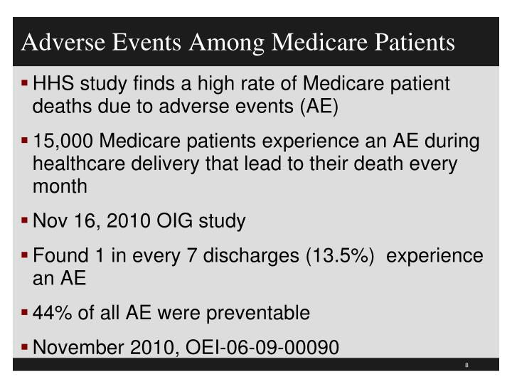 Adverse Events Among Medicare Patients