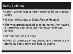 betsy lehman