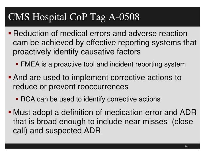CMS Hospital CoP Tag A-0508