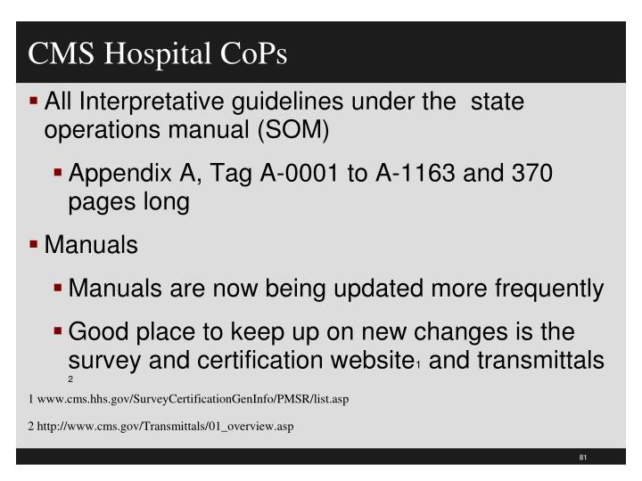 CMS Hospital CoPs