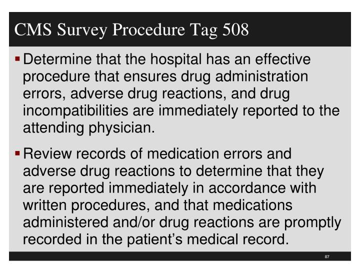 CMS Survey Procedure Tag 508