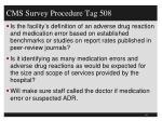 cms survey procedure tag 5081
