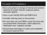 examples of compliance2