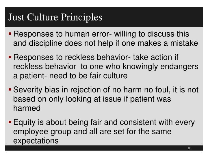 Just Culture Principles