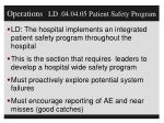 operations ld 04 04 05 patient safety program
