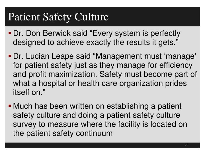 Patient Safety Culture