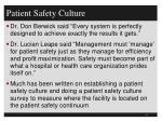 patient safety culture