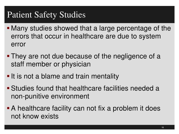 Patient Safety Studies
