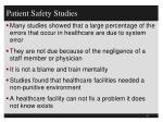 patient safety studies