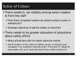 safety of culture