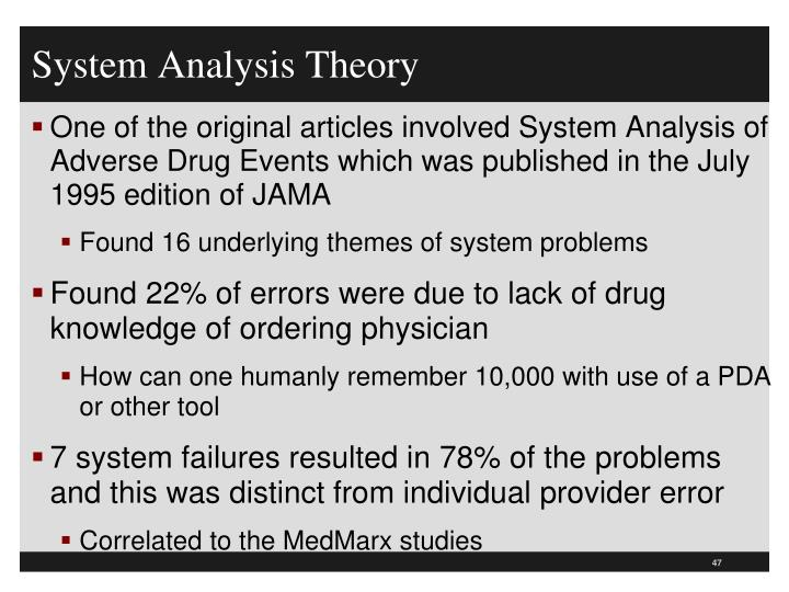 System Analysis Theory