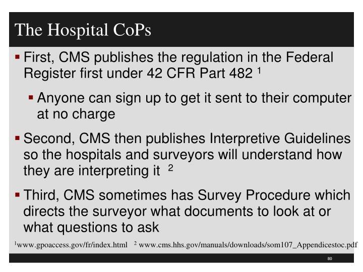 The Hospital CoPs