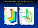 representative pressure and velocity results