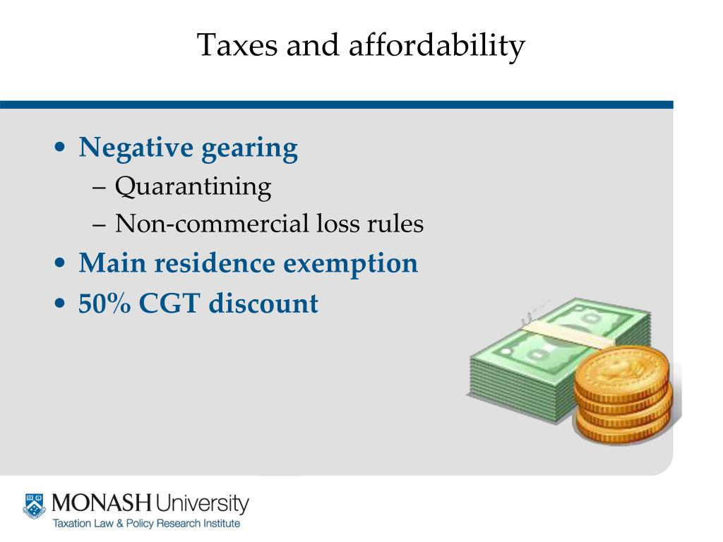 Taxes and affordability