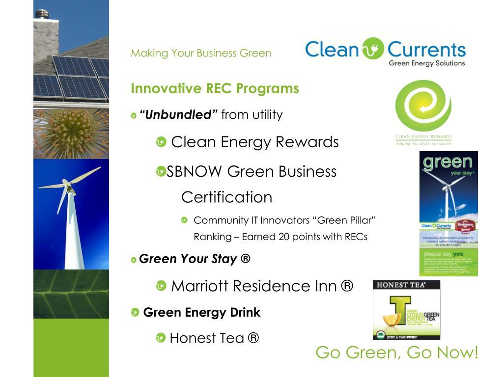 Innovative REC Programs