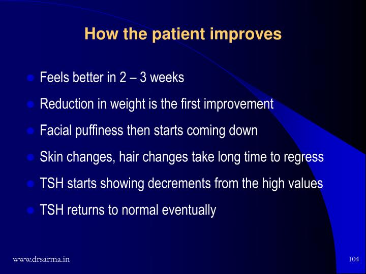 How the patient improves