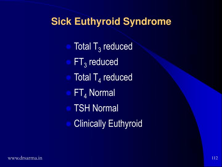 Sick Euthyroid Syndrome