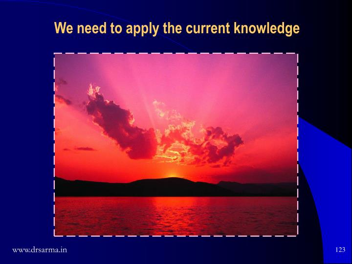 We need to apply the current knowledge