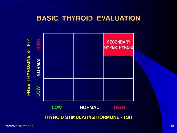 BASIC  THYROID  EVALUATION