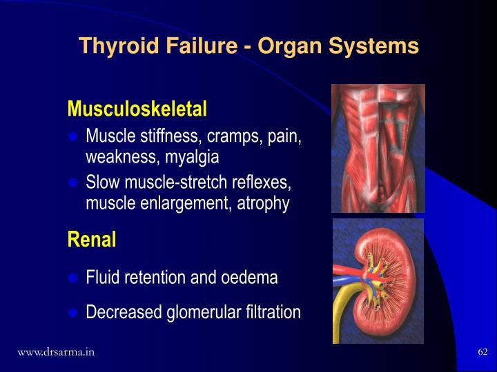 Thyroid Failure - Organ Systems