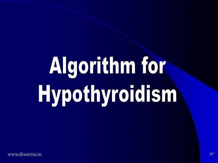 Algorithm for