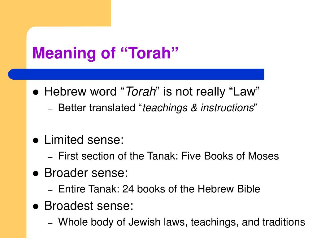 "Meaning of ""Torah"""