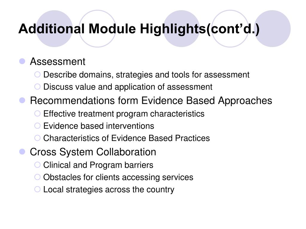 Additional Module Highlights(cont'd.)