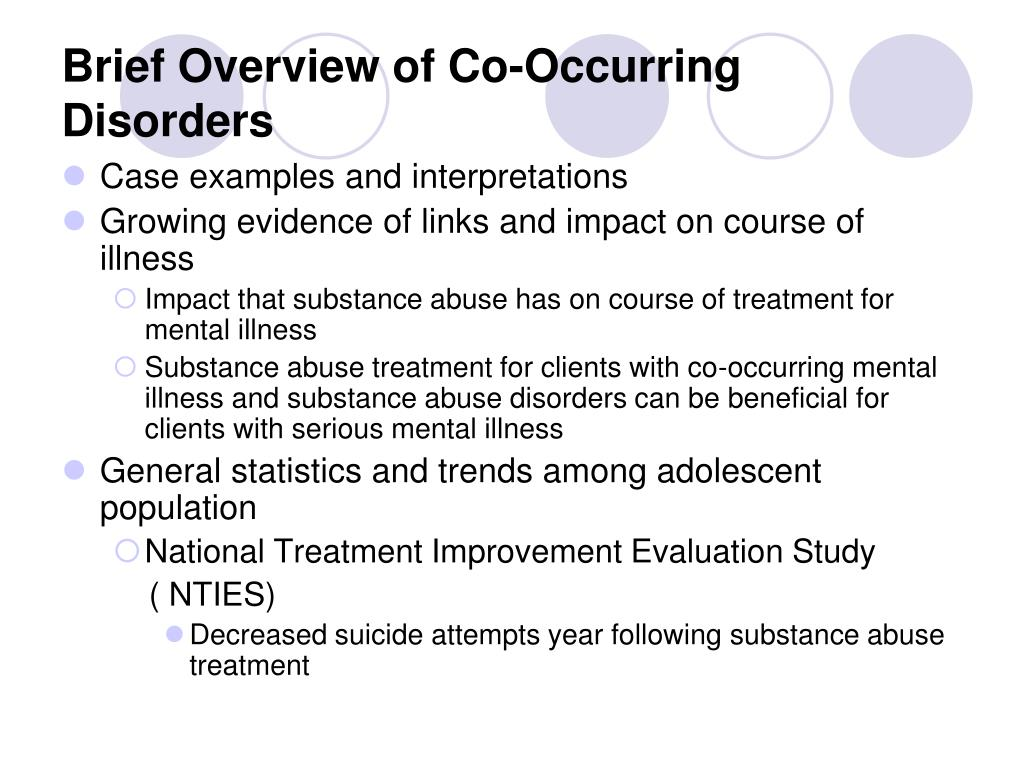 Brief Overview of Co-Occurring Disorders