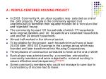 a people centered housing project1